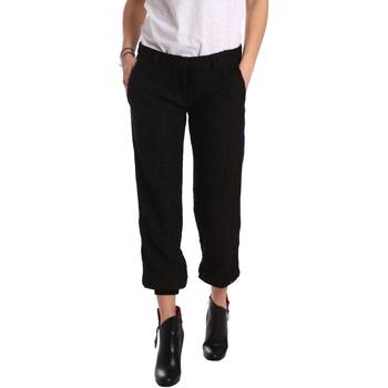 Oblečenie Ženy Nohavice Chinos a Carrot Denny Rose 721DD20026 čierna