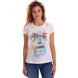 Oblečenie Ženy Tričká s krátkym rukávom Key Up 5D59S 0001 Biely