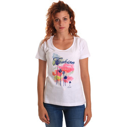 Oblečenie Ženy Tričká s krátkym rukávom Key Up 5D58S 0001 Biely