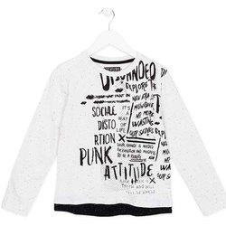 Oblečenie Deti Tričká s dlhým rukávom Losan 723 1005AA Biely