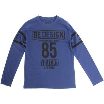 Oblečenie Deti Tričká s dlhým rukávom Losan 723 1203AA Modrá
