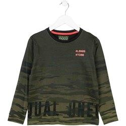 Oblečenie Deti Tričká s dlhým rukávom Losan 723 1013AA Zelená