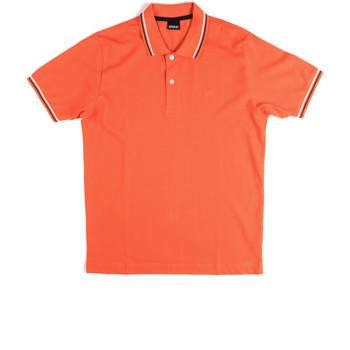 Oblečenie Muži Polokošele s krátkym rukávom Key Up 2Q70G 0001 Oranžová