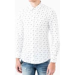 Oblečenie Muži Košele s dlhým rukávom Antony Morato MMSL00425 FA430306 Biely