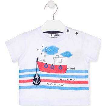 Oblečenie Deti Tričká s krátkym rukávom Losan 017-1004AL Biely