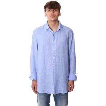 Oblečenie Muži Košele s dlhým rukávom Calvin Klein Jeans K10K106018 Modrá