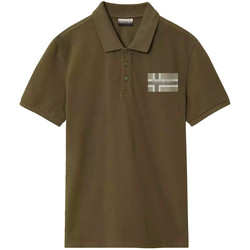 Oblečenie Muži Polokošele s krátkym rukávom Napapijri NP0A4E2K Zelená