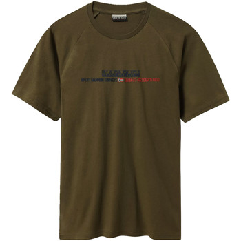 Oblečenie Muži Tričká s krátkym rukávom Napapijri NP0A4E37 Zelená