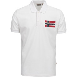 Oblečenie Muži Polokošele s krátkym rukávom Napapijri NP0A4E2K Biely