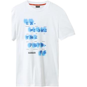 Oblečenie Muži Tričká s krátkym rukávom Napapijri NP0A4E8G Biely