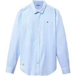 Oblečenie Muži Košele s dlhým rukávom Napapijri NP0A4E2U Modrá