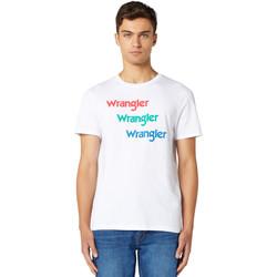 Oblečenie Muži Tričká s krátkym rukávom Wrangler W7D7D3989 Biely