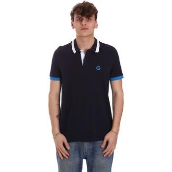 Oblečenie Muži Polokošele s krátkym rukávom Gaudi 011BU64043 Modrá