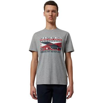 Oblečenie Muži Tričká s krátkym rukávom Napapijri NP0A4E36 Šedá