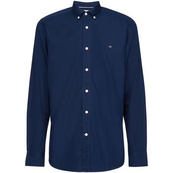 Oblečenie Muži Košele s dlhým rukávom Calvin Klein Jeans K10K105284 Modrá
