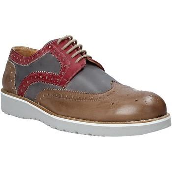 Topánky Muži Derbie Exton 5105 Hnedá