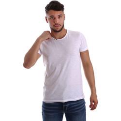 Oblečenie Muži Tričká s krátkym rukávom Key Up 233SG 0001 Biely