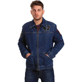 Oblečenie Muži Džínsové bundy Wrangler W4580512L Modrá