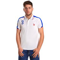 Oblečenie Muži Polokošele s krátkym rukávom U.S Polo Assn. 43770 41029 Biely