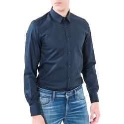Oblečenie Muži Košele s dlhým rukávom Antony Morato MMSL00362 FA400042 Modrá