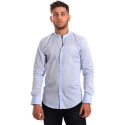 Oblečenie Muži Košele s dlhým rukávom Antony Morato MMSL00376 FA450001 Modrá