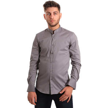 Oblečenie Muži Košele s dlhým rukávom Antony Morato MMSL00376 FA450001 Šedá