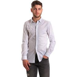 Oblečenie Muži Košele s dlhým rukávom Antony Morato MMSL00428 FA430302 Biely