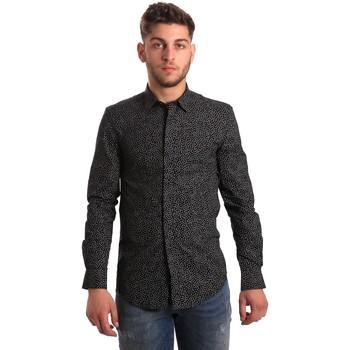 Oblečenie Muži Košele s dlhým rukávom Antony Morato MMSL00428 FA430302 čierna