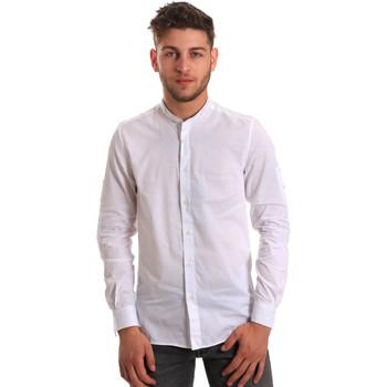 Oblečenie Muži Košele s dlhým rukávom Antony Morato MMSL00429 FA440006 Biely