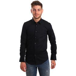Oblečenie Muži Košele s dlhým rukávom Antony Morato MMSL00472 FA450001 Modrá