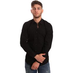Oblečenie Muži Košele s dlhým rukávom Antony Morato MMSL00472 FA450001 čierna