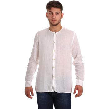 Oblečenie Muži Košele s dlhým rukávom Gaudi 811BU45022 Biely