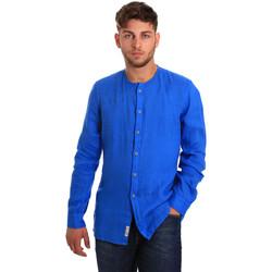 Oblečenie Muži Košele s dlhým rukávom Gaudi 811BU45022 Modrá
