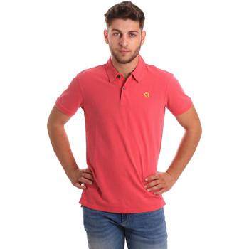 Oblečenie Muži Polokošele s krátkym rukávom Gaudi 811BU64074 Ružová