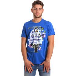 Oblečenie Muži Tričká s krátkym rukávom Gaudi 811BU64154 Modrá