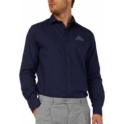 Oblečenie Muži Košele s dlhým rukávom Gas 151131 Modrá
