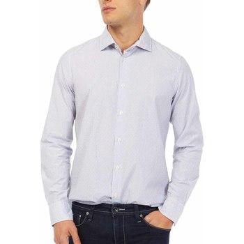 Oblečenie Muži Košele s dlhým rukávom Gas 151144 Modrá