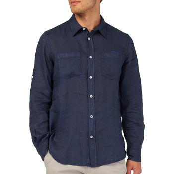 Oblečenie Muži Košele s dlhým rukávom Gas 151150 Modrá