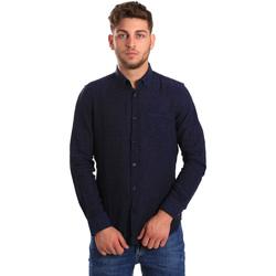 Oblečenie Muži Košele s dlhým rukávom Gas 151200 Modrá