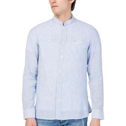 Oblečenie Muži Košele s dlhým rukávom Gas 151228 Modrá