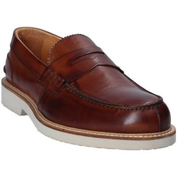Topánky Muži Mokasíny Exton 9102 Hnedá
