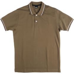 Oblečenie Muži Polokošele s krátkym rukávom Key Up 2Q70G 0001 Zelená
