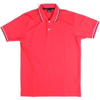 Oblečenie Muži Polokošele s krátkym rukávom Key Up 2Q70G 0001 Ružová