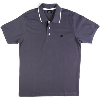 Oblečenie Muži Polokošele s krátkym rukávom Key Up 2Q711 0001 Modrá