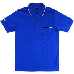 Oblečenie Muži Polokošele s krátkym rukávom Key Up 2Q827 0001 Modrá