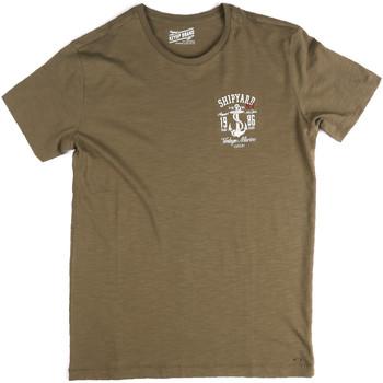 Oblečenie Muži Tričká s krátkym rukávom Key Up 2G77S 0001 Zelená