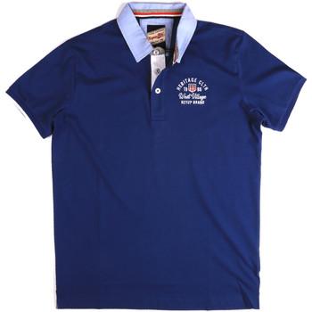Oblečenie Muži Polokošele s krátkym rukávom Key Up 2G85R 0001 Modrá