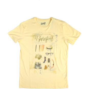 Oblečenie Muži Tričká s krátkym rukávom Key Up 2G84S 0001 žltá