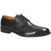 Topánky Muži Derbie Exton 1372 čierna