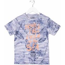 Oblečenie Deti Tričká s krátkym rukávom Losan 813-1023AA Modrá